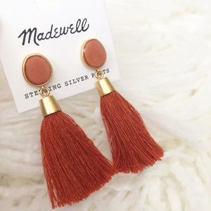 Madewell Jewelry - MADEWELL stone tassel earrings
